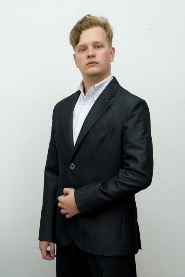 Классический мужской пиджак. Ткань: 51% вискоза, 49% полиэстер