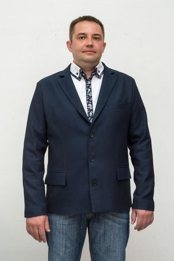 Классический мужской пиджак. Ткань: 49% вискоза, 49% полиэстер, 2% эластан
