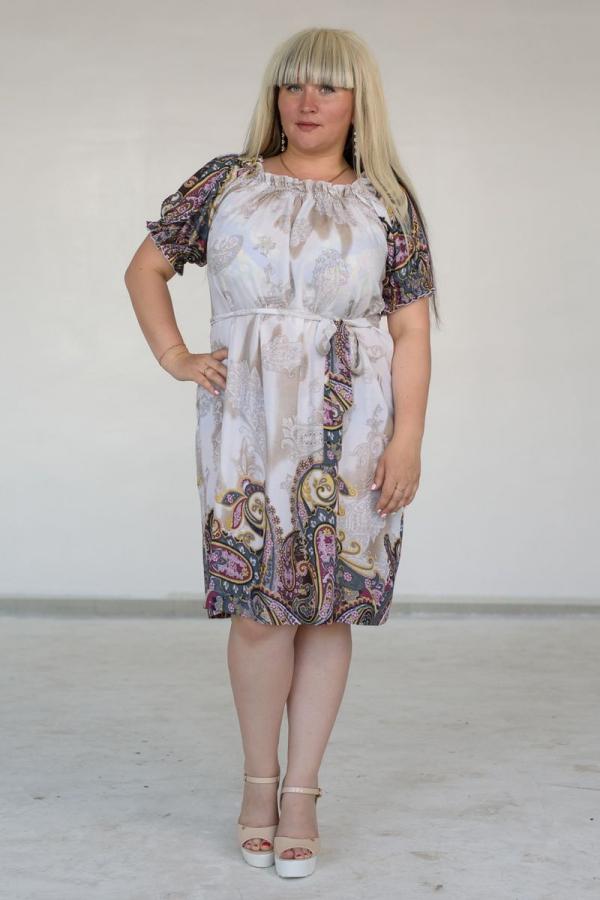 Платье, свободного силуэта. Размер: 44-56. Цвета: серый, розовый. Материал: 100% хлопок.