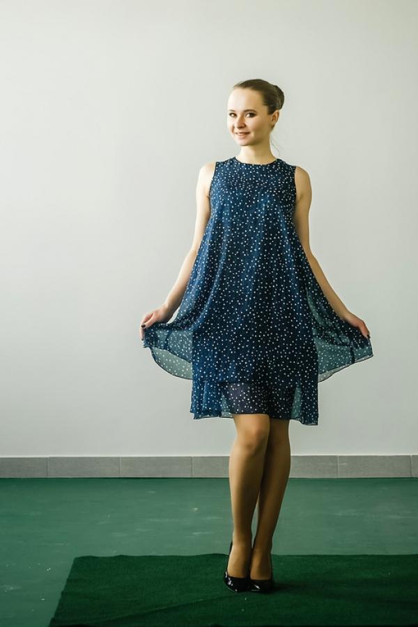 Летнее платье с короткими рукавами из приятного материала. Размер: 42-56. Цвета: мультиколор