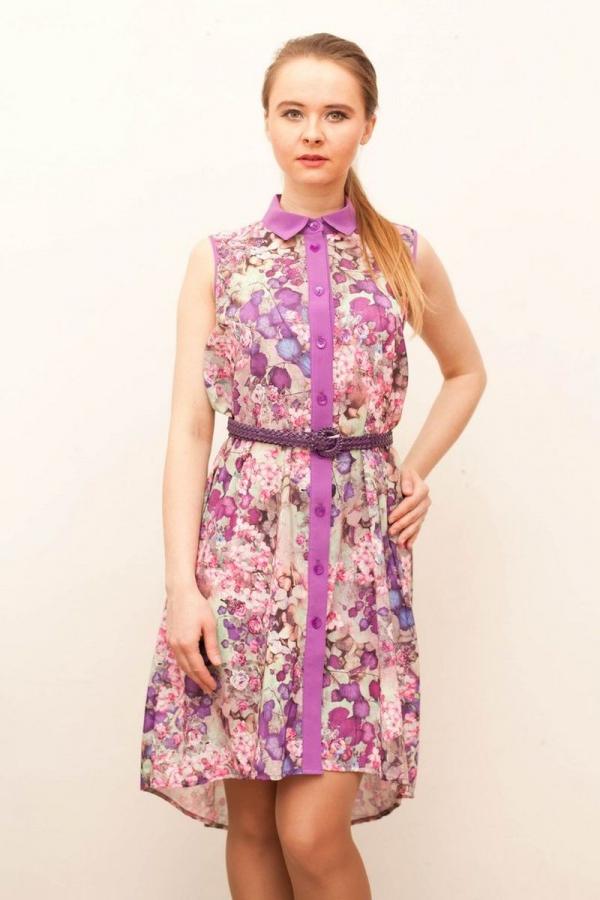 Платье-рубашка. Носить его можно с самыми разнообразными предметами гардероба и аксессуарами.