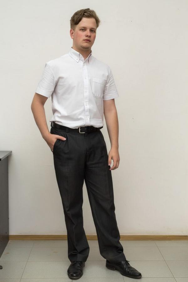 Классическая мужская рубашка. Цвет: синий. Размеры 40-64. Ткань: хлопок